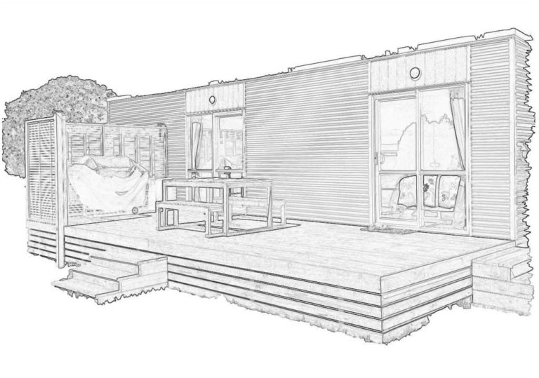 Sketch of Kiwi Cabin
