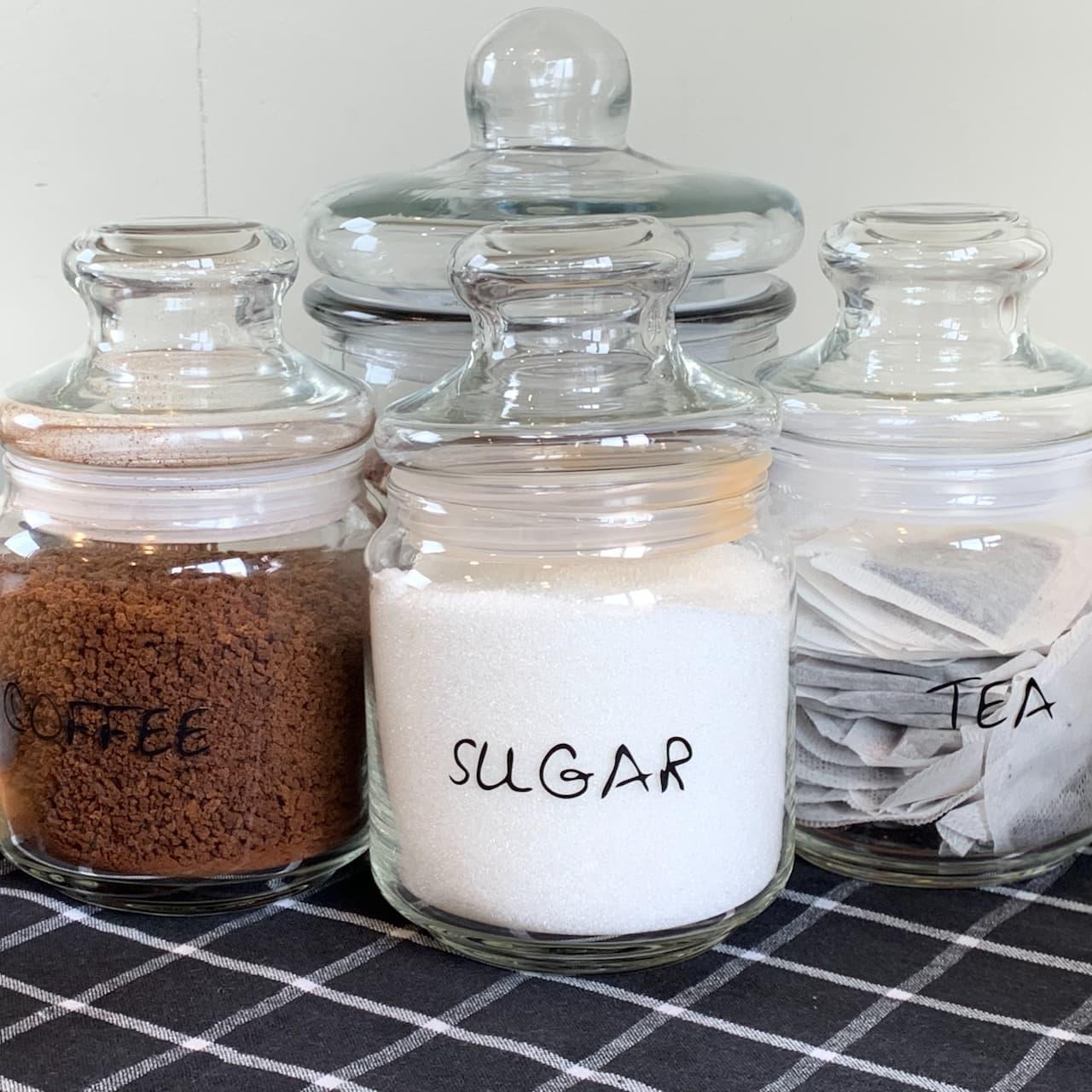 Tea, coffee and sugar Kiwi Cabin