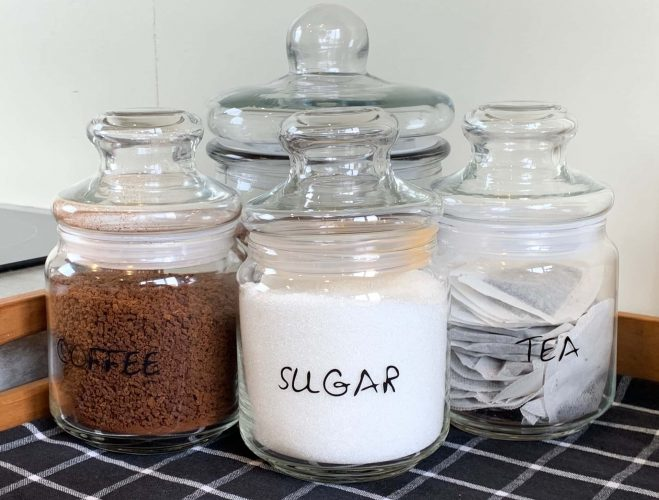 coffee, tea and sugar