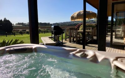 spa pool with view of surrounding countryside